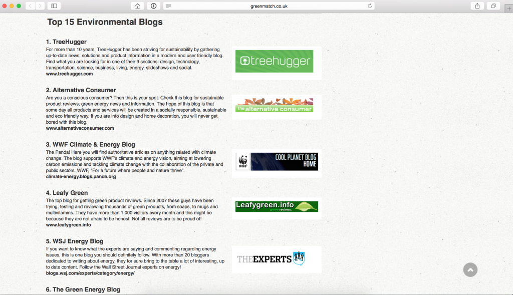 Screen Shot Greenmatch Feature